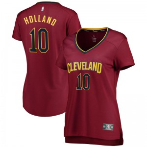 Fanatics Branded Cleveland Cavaliers Swingman John Holland Wine Fast Break Jersey - Iconic Edition - Men's
