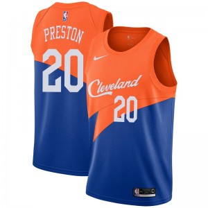 Nike Cleveland Cavaliers Swingman Blue Billy Preston 2018/19 Jersey - City Edition - Youth