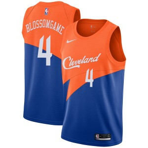 Nike Cleveland Cavaliers Swingman Blue Jaron Blossomgame 2018/19 Jersey - City Edition - Men's